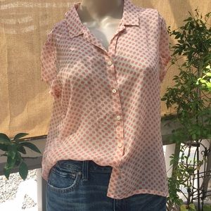 Tommy Bahama Polka Dot Silk Blouse